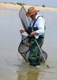 骄傲的渔夫 库存照片