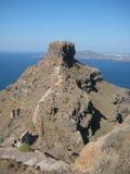骄傲的Skaros岩石在圣托里尼 库存照片