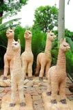 骆马雕象 库存照片