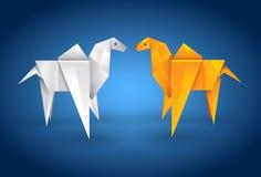 骆驼夫妇origami 免版税库存图片