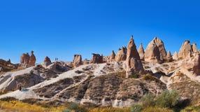 骆驼岩石全景在Cappadocia土耳其的 库存图片