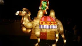 骆驼手工制造中国灯笼 免版税库存图片