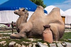 骆驼的雕塑 库存图片