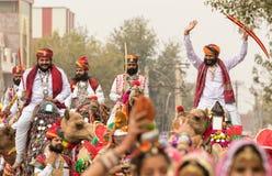 骆驼的Rajasthani人 免版税库存照片