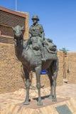 骆驼纪念碑在Upington,南非 免版税库存照片