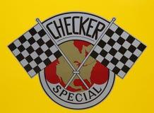 验查员出租车由Checker Motors Corporation生产了在布鲁克林 免版税库存图片
