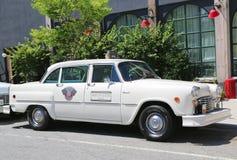 验查员马拉松出租汽车汽车由Checker Motors Corporation生产了 免版税库存图片