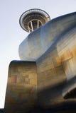 经验音乐项目和空间针在西雅图- 1 免版税库存图片