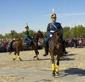 骑兵在莫斯科显示 免版税库存照片