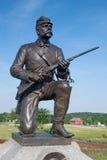 骑兵gettysburg战士雕象联盟 库存图片