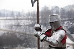 骑士中世纪纵向 免版税图库摄影