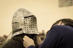 骑士中世纪纵向 免版税库存照片
