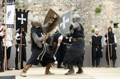 骑士争斗 免版税库存照片