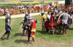 骑士争斗 库存照片
