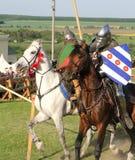 骑士争斗 库存图片