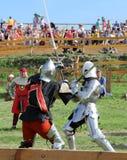 骑士争斗 免版税图库摄影