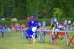 骑士决斗 免版税库存图片