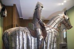 骑士和他的马在钢装甲 奥赛博物馆  库存图片