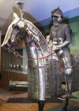 骑士和他的马在钢装甲 奥赛博物馆  免版税库存照片