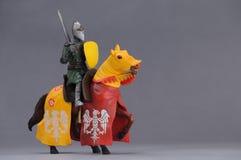 骑士和马 免版税库存照片