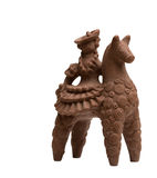 骑士在马背上由鲜美牛奶巧克力制成 库存图片