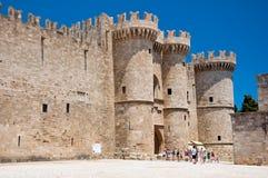 骑士大师宫殿。罗得岛海岛,希腊。 免版税库存照片