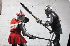 骑士战斗 库存图片