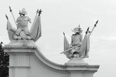 骑士指南雕塑 库存图片