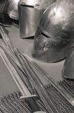 骑士武器和装甲 免版税图库摄影