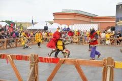 骑士比赛的重建 免版税图库摄影