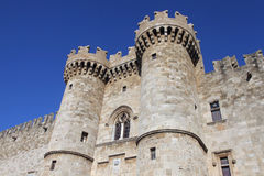 骑士的宫殿,罗得岛 免版税库存图片