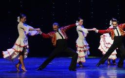 骑士这西班牙斗牛舞蹈这奥地利的世界舞蹈 库存照片