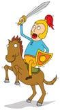 骑士骑乘马 免版税库存图片