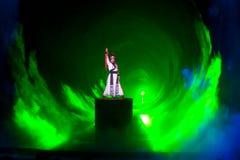 骑士--历史样式歌曲和舞蹈戏曲不可思议的魔术-淦Po 库存图片