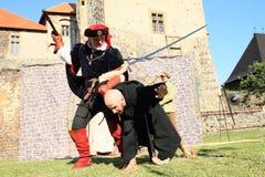 骑士-贵族和教士战斗 库存照片