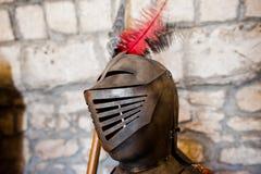 骑士` s装甲作为一exhebition的部分在博物馆 库存图片