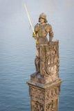 骑士Bruncvik的雕象在布拉格 免版税库存照片