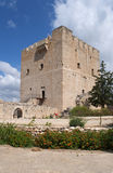 骑士Hospitaller的城堡的城堡的主楼的看法Kolossi的 免版税图库摄影