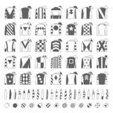 骑师制服 设计传统 夹克、丝绸、袖子和帽子 马术 赛跑俄国的高加索竞技场马北pyatigorsk 被设置的图标 隔绝  库存照片