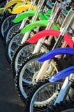 骑自行车五颜六色 免版税图库摄影