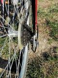 骑自行车传输改变电力分配 免版税库存图片