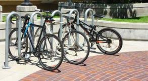 骑自行车停车位 免版税库存图片