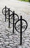 骑自行车停车 库存图片
