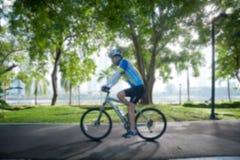 骑自行车在公园 库存图片