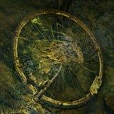 骑自行车在水之下 免版税库存照片