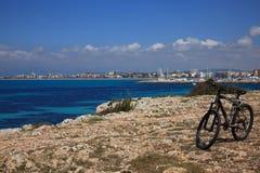 骑自行车地中海 免版税库存图片
