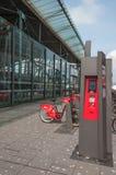 骑自行车城市法国里尔设备票 图库摄影