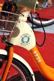 骑自行车城市米兰 图库摄影