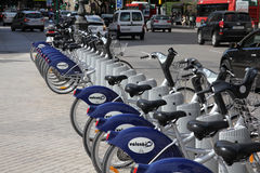 骑自行车城市巴伦西亚 免版税库存图片