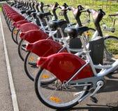 骑自行车城市 免版税库存照片